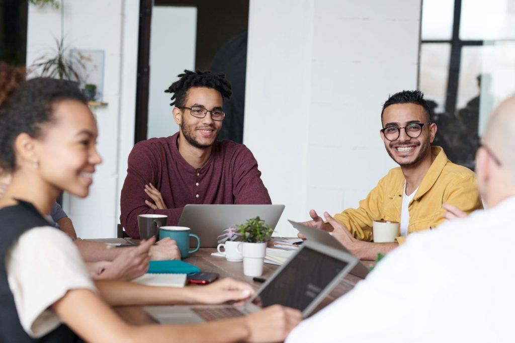 photo of people using laptops